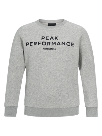 Kids Logo Crew neck Med Grey Mel | Peak Performance