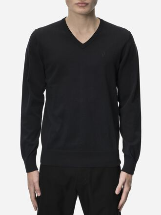 Men's Golf Classic V-neck Sweater Black | Peak Performance