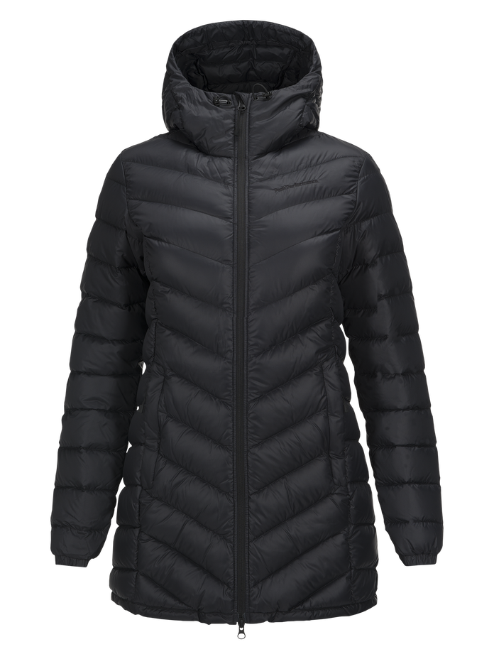 Women's Frost Down Parka Black | Peak Performance