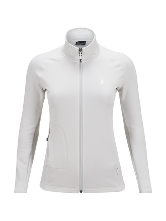 Women's Waiatra Zipped Longsleeve Jacket Dk Offwhite | Peak Performance
