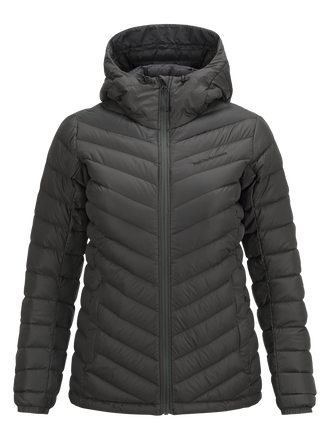 Women's Frost Down Hooded Jacket Olive Extreme | Peak Performance