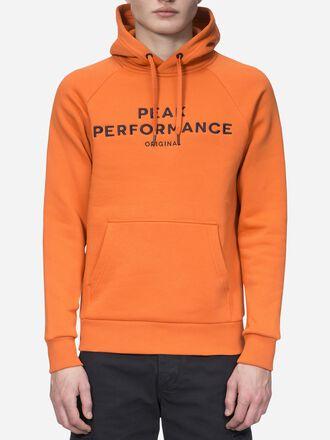 Men's Logo  Hood Orange Flow   Peak Performance