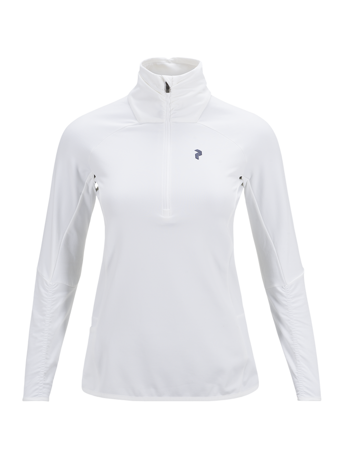 Women's Golf Wiltshire Half Zipped Mid-Layer Top White | Peak Performance