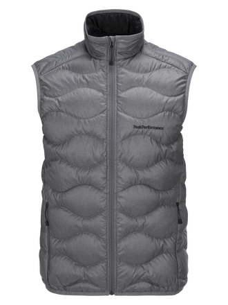 Men's Helium Melange Down Vest Grey melange | Peak Performance
