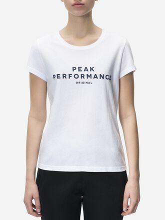 Women's Logo T-shirt White   Peak Performance