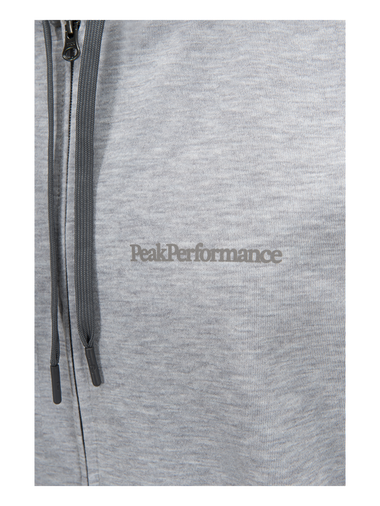 Structure väst med huva för herrar Med Grey Mel | Peak Performance
