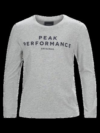 Kids Long-sleeved T-shirt Med Grey Mel | Peak Performance