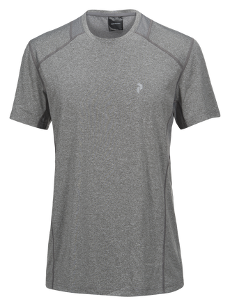 React t-shirt för herrar Grey melange | Peak Performance