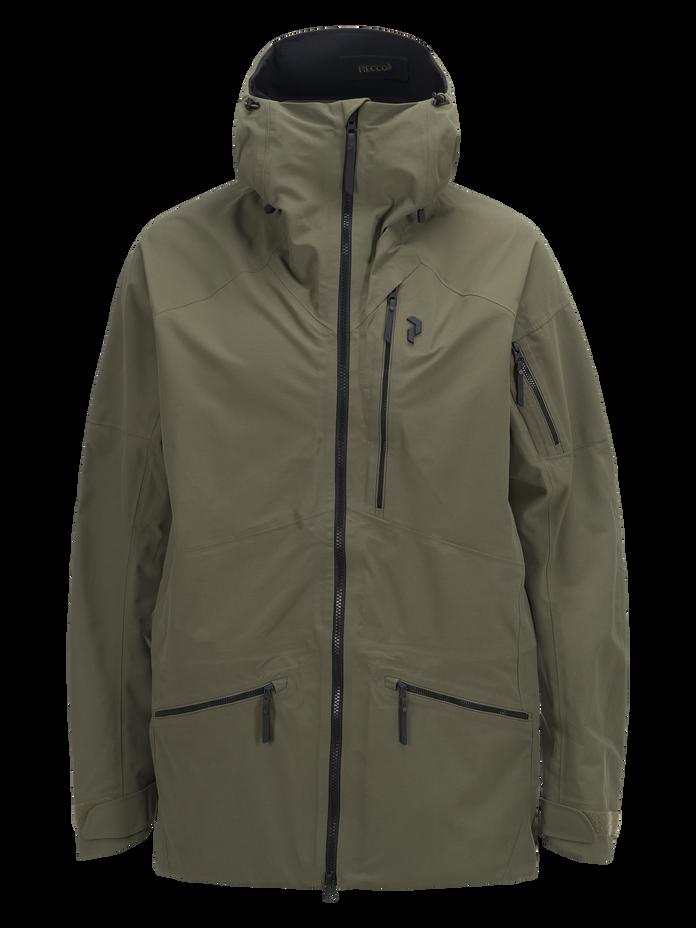Men's Radical 3-Layer Ski Jacket Soil Olive | Peak Performance