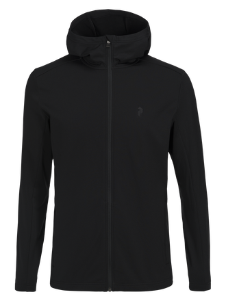 Men's Ace Hooded Zipped Mid-Layer Black | Peak Performance
