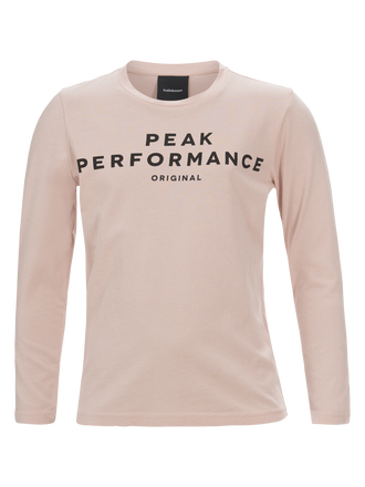 Kids Long-sleeved T-shirt Softer Pink | Peak Performance