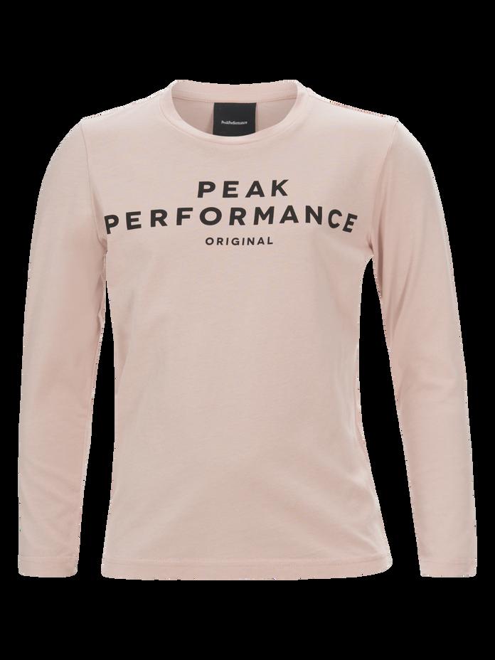 Kids Long-sleeved T-shirt Softer Pink | Peak Performance