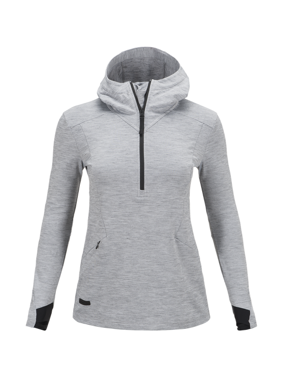 Damen Civil Mit Kapuze Mittelschicht Jacke Med Grey Mel | Peak Performance