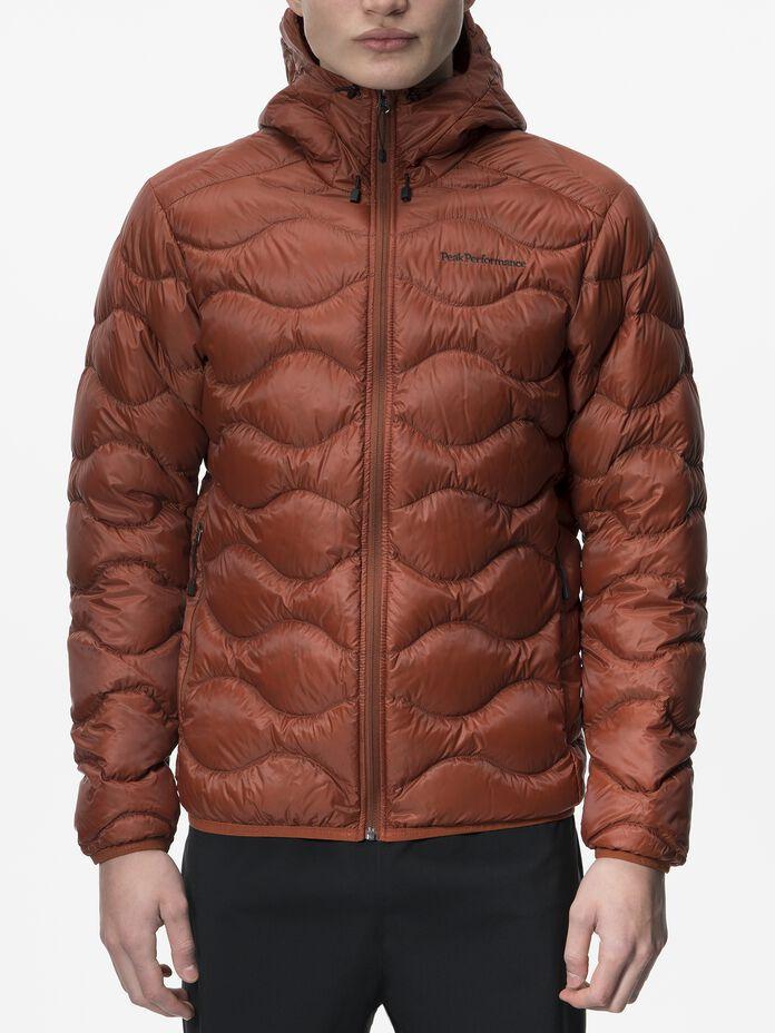Men's Helium Hooded Jacket Spiced | Peak Performance