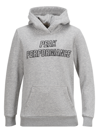 Kids Hoodie Med Grey Mel | Peak Performance