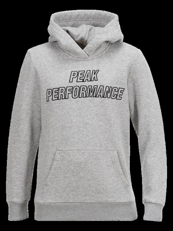 Sweat à capuche enfant Med Grey Mel | Peak Performance