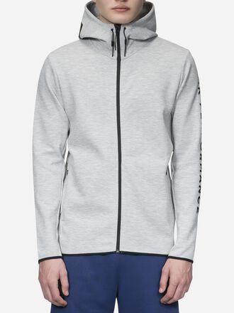 Men's Tech Zipped Hooded Sweater Med Grey Mel | Peak Performance