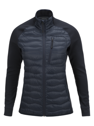 Women's Heli Hybrid Jacket Salute Blue | Peak Performance
