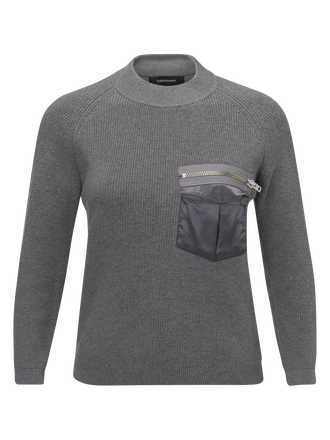 Women's Code Crew neck Grey melange | Peak Performance