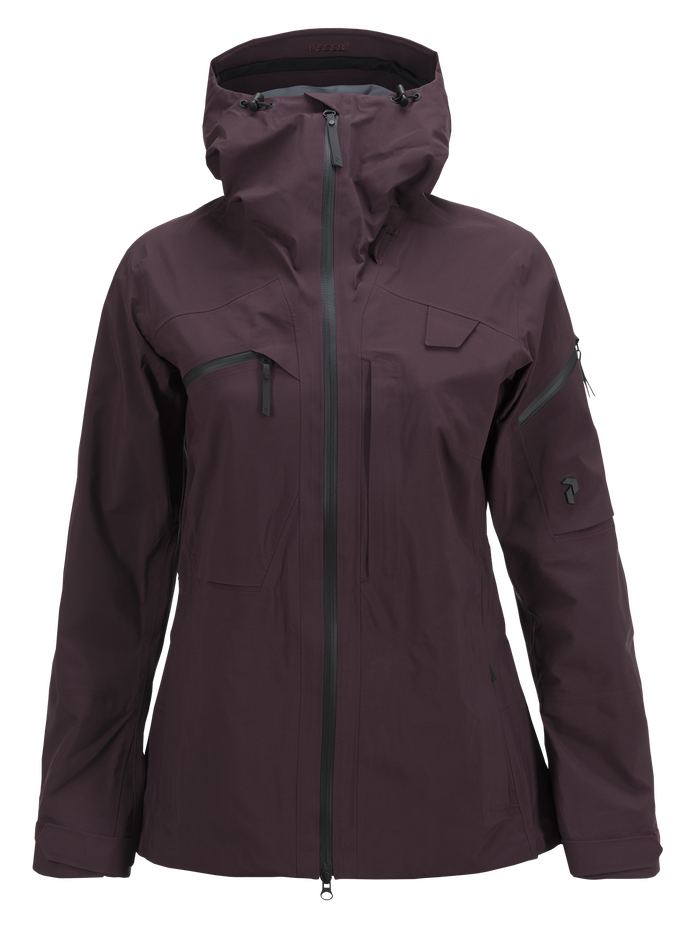 Damen Alpine Skijacke Mahogany | Peak Performance