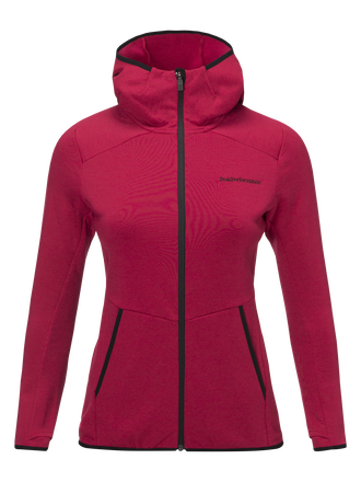 Women's Helo Hooded Mid Jacket True Pink | Peak Performance