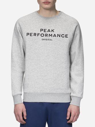 Men's Logo crew neck Med Grey Mel | Peak Performance