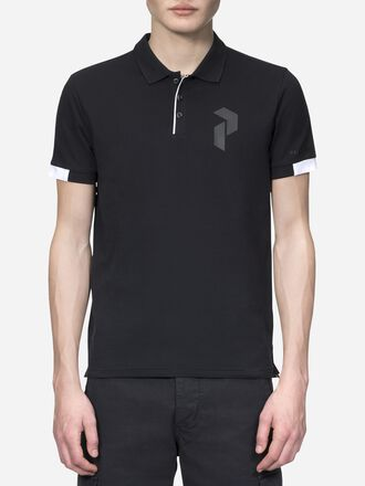 Men's Tech Pique Black | Peak Performance