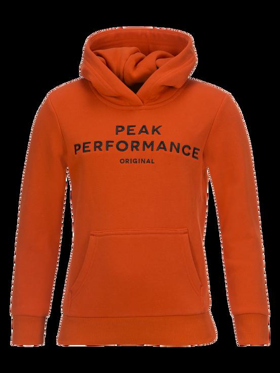 Kids Logo Hoodie Orange Lava | Peak Performance