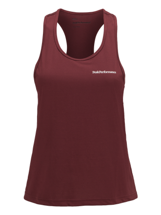 Women's Running Tank Cabernet | Peak Performance