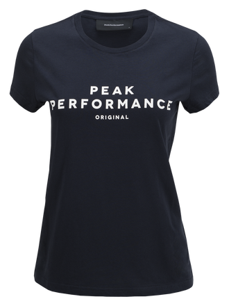 Damen Logo T-shirt Salute Blue | Peak Performance