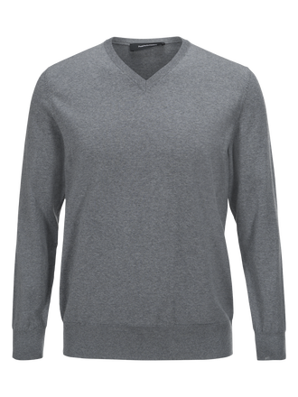 Men's Merino V-neck Grey melange | Peak Performance