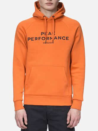 Herren Logo Hoodie Orange Flow | Peak Performance