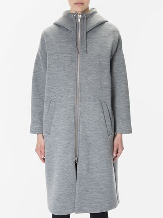 Women's Motion Hooded Coat Grey melange | Peak Performance