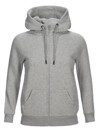 Women's Sportswear Printed Zipped Hood Med Grey Mel | Peak Performance