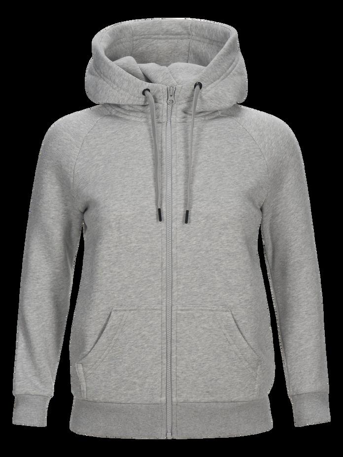 Women's Sportswear Printed Zipped Hood Med Grey Mel | Peak Performance