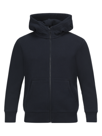Kids Art Zipped Hoodie Salute Blue | Peak Performance