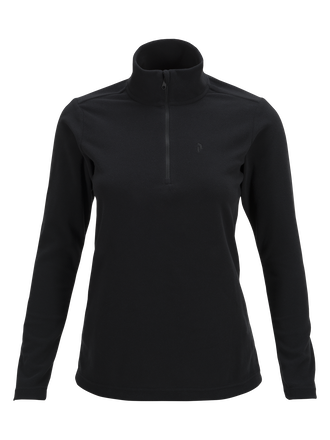 Women's Light Micro Zipped Mid-Layer Black | Peak Performance