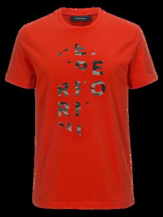 Sportswear t-shirt med tryck för herrar Poppy Red | Peak Performance