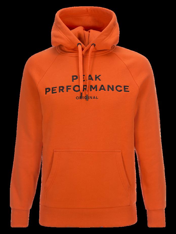 Men's Logo Hoodie Orange Lava   Peak Performance