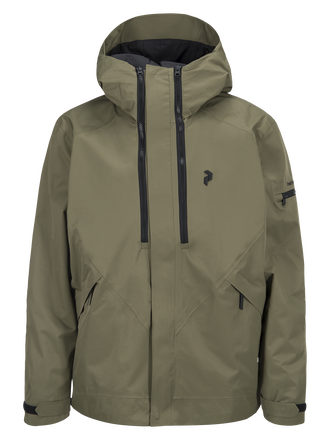 Men's Shawnee 2-Layer Shell Ski Jacket Soil Olive | Peak Performance