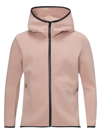 Kids Tech Zipped Hooded Jacket Softer Pink | Peak Performance