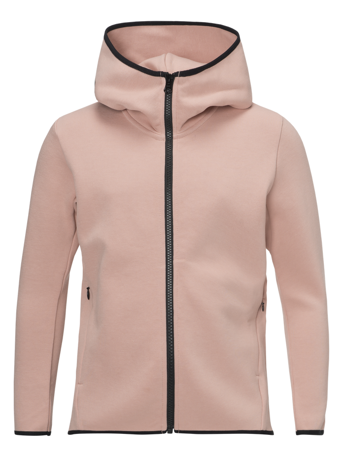 Sweat zippé à capuche enfant Tech Softer Pink | Peak Performance