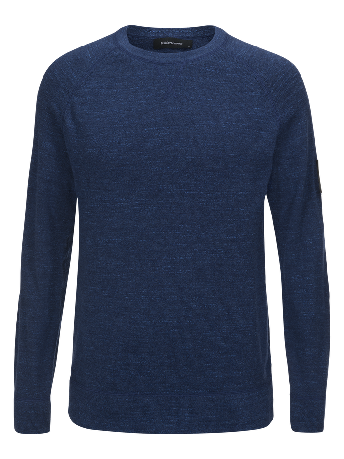 Men's Thyler Crew neck Thermal Blue | Peak Performance