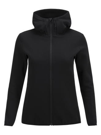 Women's Tech Zipped Hooded Sweater Black | Peak Performance