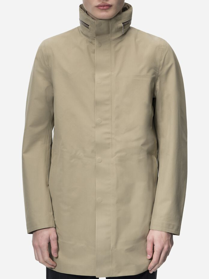 Men's Parkes Coat True Beige | Peak Performance