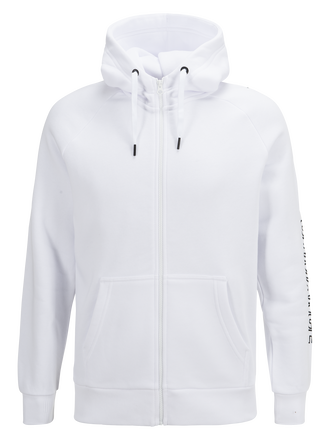 Men's Zipped Hooded Sweater White | Peak Performance