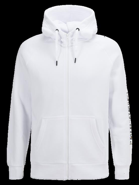 Men's Zipped Hooded Sweater White | Peak Performance