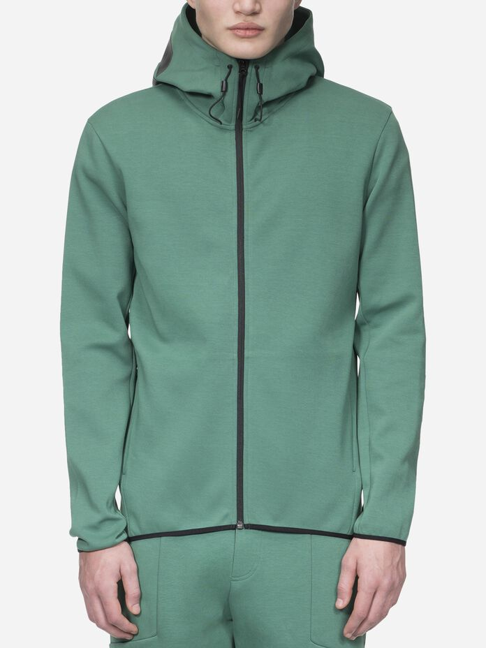 Men's Tech Zipped Hooded Sweater Digital Green | Peak Performance