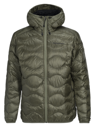 Men's Helium Lux Hooded Jacket Leaflet green | Peak Performance