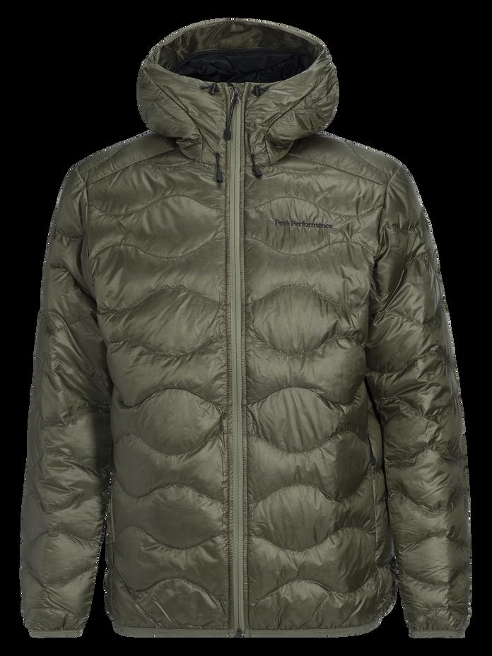 Men's Helium Lux Hooded Jacket Leaflet green | Peak Performance